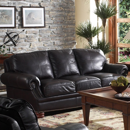 Manchester Leather Sofa By Coaster 8126