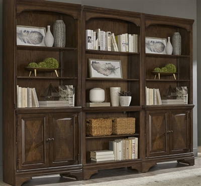 Hartshill 3 Piece Bookcase in Burnished Oak Finish by Coaster - 881285-3