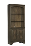 Hartshill Door Bookcase in Burnished Oak Finish by Coaster - 881286