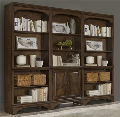Hartshill 3 Piece Bookcase in Burnished Oak Finish by Coaster - 881286-3