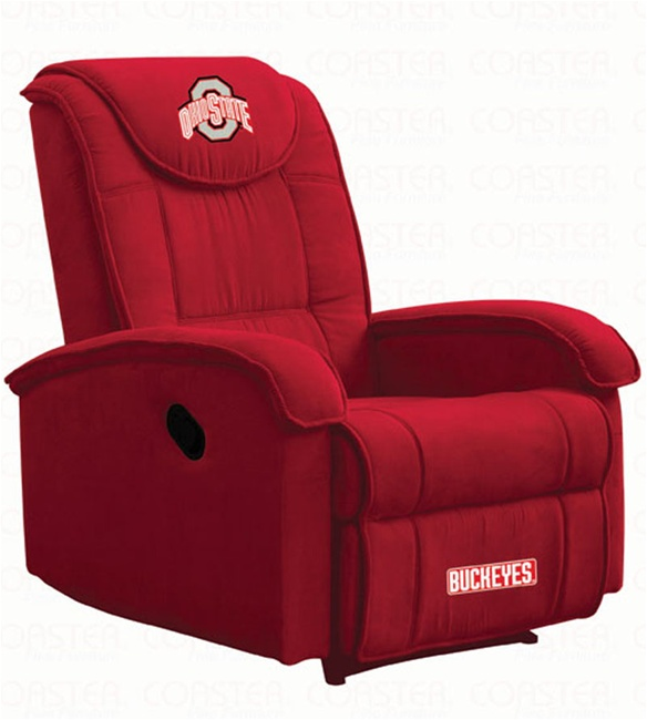 ohio state home decor.htm college teams ohio state recliner by coaster 891ohst  college teams ohio state recliner by