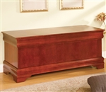 Louis Philippe Style Cedar Chest in Cherry Finish by Coaster - 900022