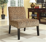 Leopard Pattern Fabric Accent Chair by Coaster - 900184