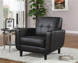 Black Vinyl Accent Chair by Coaster - 900204
