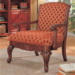 Decorative Chenille Fabric Accent Chair by Coaster - 900222