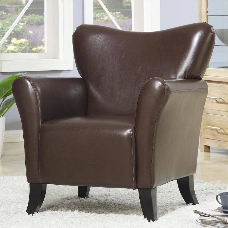 Awe Inspiring Brown Vinyl Upholstered Arm Chair By Coaster 900254 Evergreenethics Interior Chair Design Evergreenethicsorg