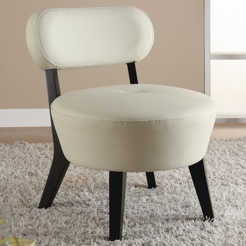 Admirable Exposed Wood Soft White Leather Accent Chair By Coaster 900296 Ibusinesslaw Wood Chair Design Ideas Ibusinesslaworg