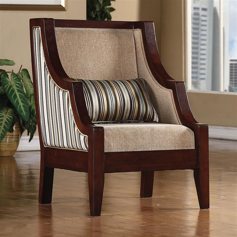 Striped Accent Chair By Coaster 900323