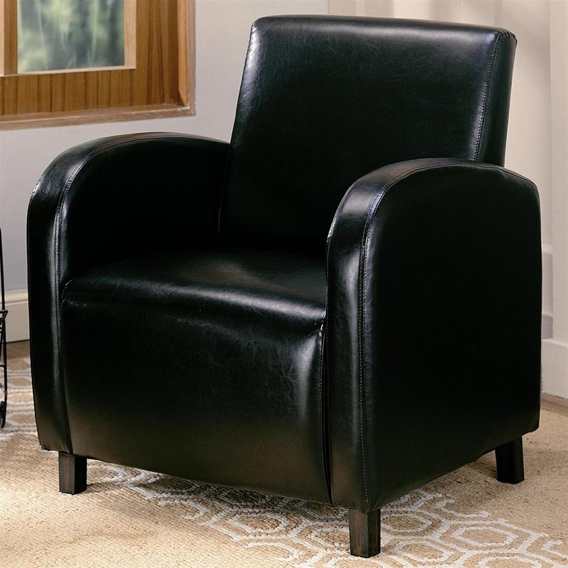 Dark Brown Vinyl Upholstered Arm Chair By Coaster 900334