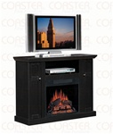 Laminate Media Mantel Electric Fireplace in Black Ash Finish by Coaster - 900341