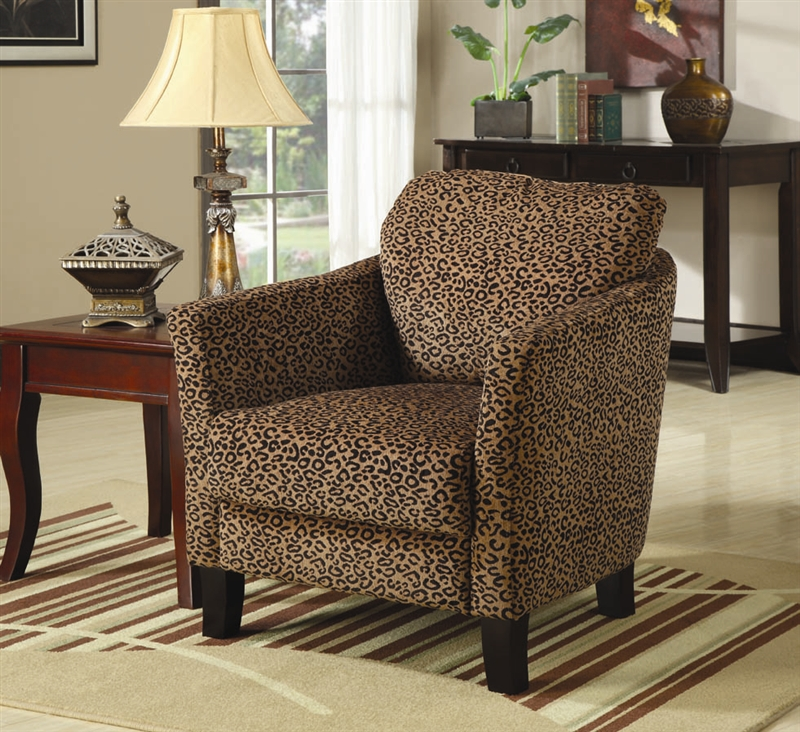 Peachy Leopard Pattern Fabric Accent Chair By Coaster 900403 Beatyapartments Chair Design Images Beatyapartmentscom