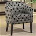 Charlotte Accent Chair in Hexagon Patterned Fabric by Coaster - 900435