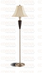 Set of Two Cappuccino/Nickel Floor Lamps by Coaster - 900737