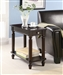 Chairside Table in Cappuccino Finish by Coaster - 900972