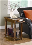 Chairside Table in Warm Brown Finish by Coaster - 900973