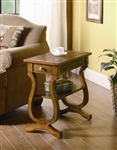 Chairside Table in Warm Brown Finish by Coaster - 900975