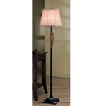 Amber Glass Floor Lamp by Coaster - 901140