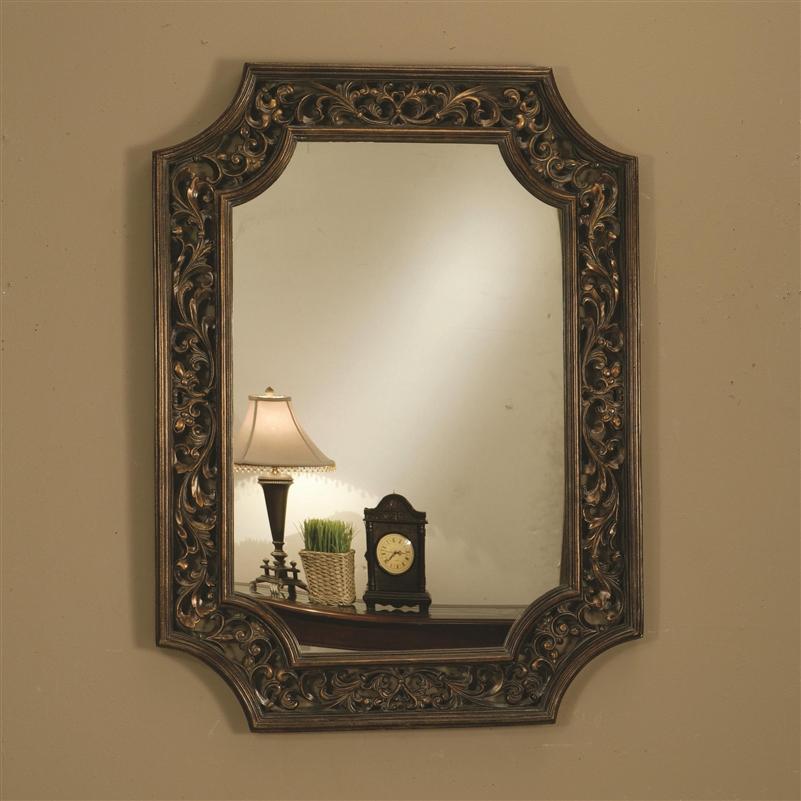 Bronze Wall Mirror bathroom mirrors bronze finish - bathroom design