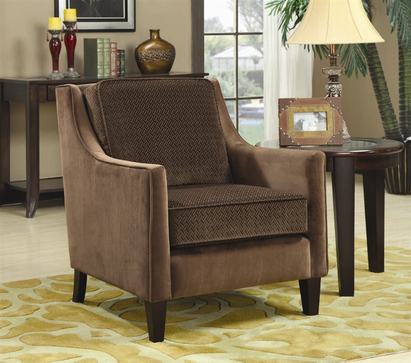 Terrific Brown Fabric Accent Chair By Coaster 902043 Gmtry Best Dining Table And Chair Ideas Images Gmtryco