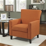 Orange Fabric Accent Chair by Coaster - 902094