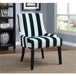 Accent Chair in Striped Pattern Fabric by Coaster - 902188