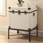 Trunk Accent Cabinet in White Finish by Coaster - 902819