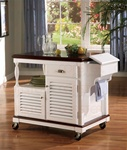 Kitchen Island White and Cherry Finish by Coaster - 910013