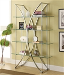 Chrome and Glass Bookcase by Coaster - 910050