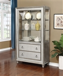 Bling Game Curio Cabinet in Metallic Platinum Finish by Coaster - 910185