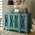 Accent Cabinet in Teal Blue Finish by Coaster - 950245