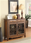 Accent Cabinet in Antiqued Brown Finish by Coaster - 950358