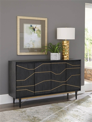 Accent Cabinet in Graphite Finish by Scott Living - 951030