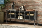 Industrial Accent Cabinet in Black Finish by Scott Living - 951032