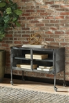 Industrial Accent Cabinet in Black Finish by Scott Living - 951033