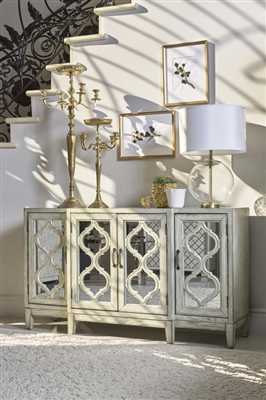 Accent Cabinet in Antique White Finish by Coaster - 953376