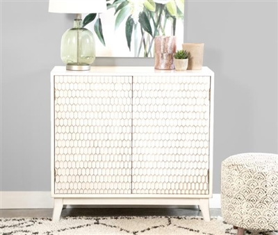 36 Inch Accent Cabinet in White Finish by Coaster - 953401