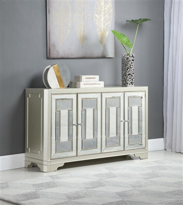 60 Inch Accent Cabinet in Smoke and Champagne Finish by Coaster - 953487