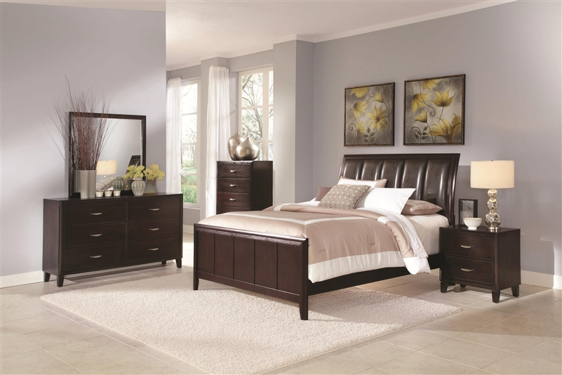 Coventry 6 Piece Bedroom Set In Dark Brown Finish By Coaster   B180