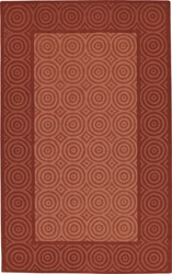 100% WOOL BRICK AND PAPRIKA MEDIUM 5' x 8' CASUAL RUG by Coaster - PR1006M
