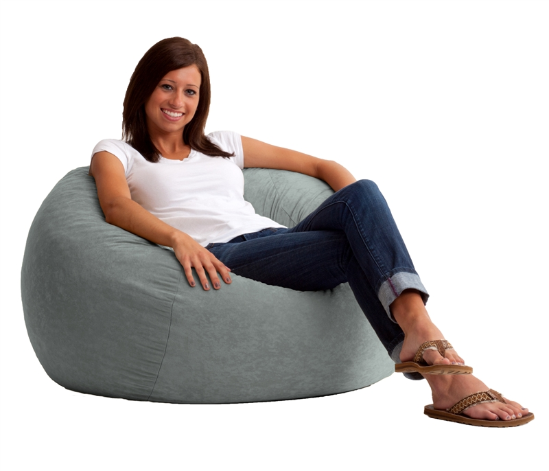 3 5 Medium Fuf Bean Bag Chair In Comfort Suede Fabric By Research 0020