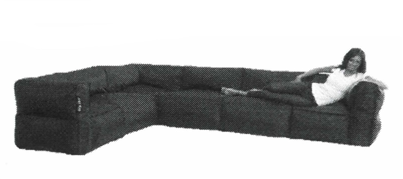 Big Joe 6 Piece Zip Modular Sectional By Comfort Research