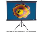 "Tripod- Portable Projection Screen 50"" x 67""-Black Case- Max White - 84"" Diagonal"