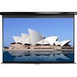 "Manual Projection Screen 73"" x 117""- Black Casing- MaxWhite - 139"" Diagonal"