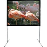 "Quick Stand Folding Q120VD Portable Projection Screen 72"" x 96"" - CineWhite - 120"" Diagonal"