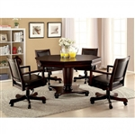 Raelle 5 Piece Game Table Set in Dark Cherry by Furniture of America - FOA-CM-GM341T