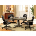 Yelena 5 Piece Game Table Set in Gray by Furniture of America - FOA-CM-GM357T