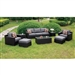 Helina 8 Piece Patio Set in Espresso Wicker by Furniture of America - FOA-CM-OS1827GY
