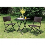 Seren 3 Piece Patio Set in Espresso by Furniture of America - FOA-CM-OT1804