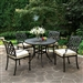 Chiara II 5 Piece Round Patio Dinning Table Set in Dark Gray by Furniture of America - FOA-CM-OT2303-RT