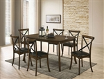 Buhl I 7 Piece Dining Room Set in Burnished Oak Finish by Furniture of America - FOA-CM3148